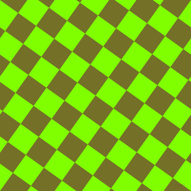 54/144 degree angle diagonal checkered chequered squares checker pattern checkers background, 76 pixel squares size, , Olivetone and Chartreuse checkers chequered checkered squares seamless tileable