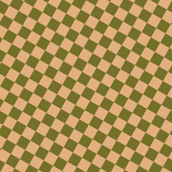 60/150 degree angle diagonal checkered chequered squares checker pattern checkers background, 42 pixel squares size, , Olivetone and Manhattan checkers chequered checkered squares seamless tileable