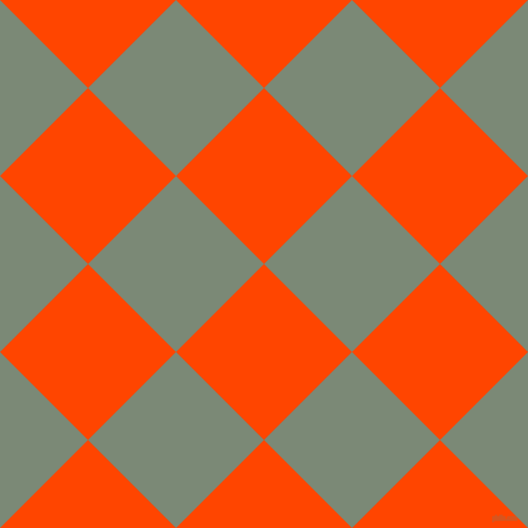 45/135 degree angle diagonal checkered chequered squares checker pattern checkers background, 177 pixel squares size, , Orange Red and Spanish Green checkers chequered checkered squares seamless tileable