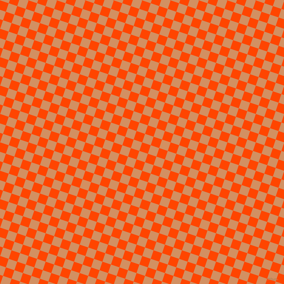 72/162 degree angle diagonal checkered chequered squares checker pattern checkers background, 29 pixel square size, , Orange Red and Whiskey checkers chequered checkered squares seamless tileable