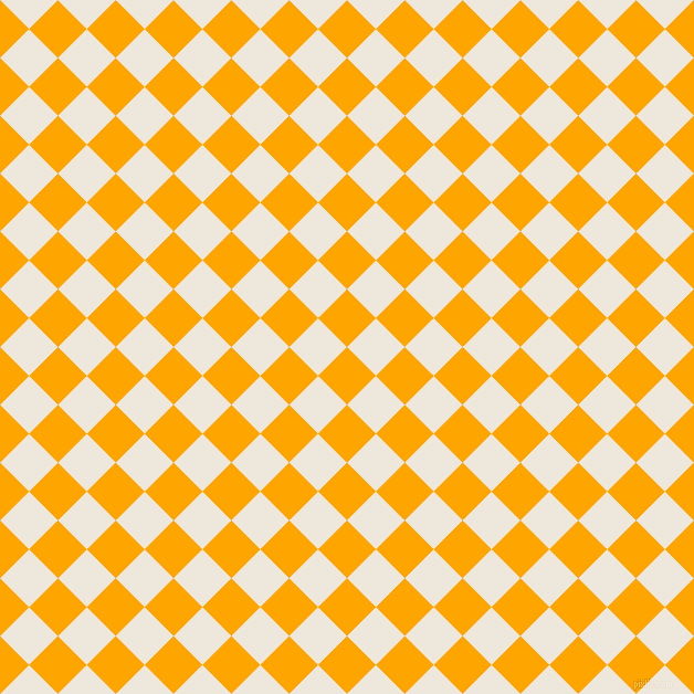 45/135 degree angle diagonal checkered chequered squares checker pattern checkers background, 37 pixel squares size, Orange and White Linen checkers chequered checkered squares seamless tileable