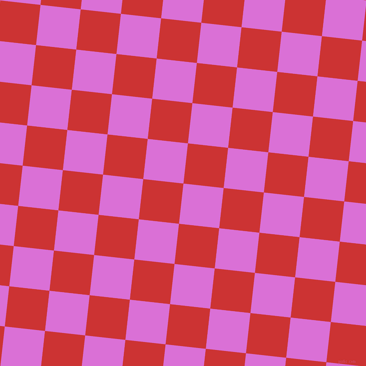 84/174 degree angle diagonal checkered chequered squares checker pattern checkers background, 81 pixel square size, , Orchid and Persian Red checkers chequered checkered squares seamless tileable