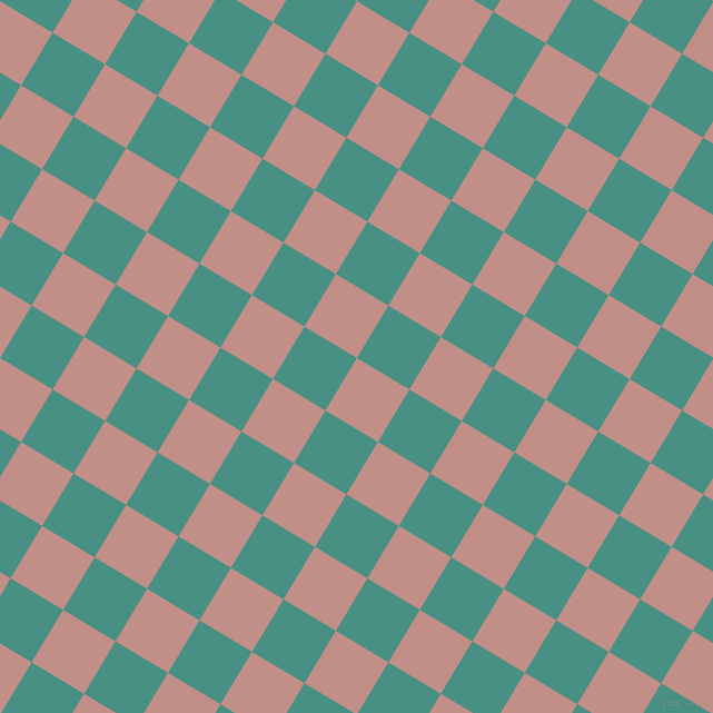 59/149 degree angle diagonal checkered chequered squares checker pattern checkers background, 55 pixel square size, , Oriental Pink and Lochinvar checkers chequered checkered squares seamless tileable