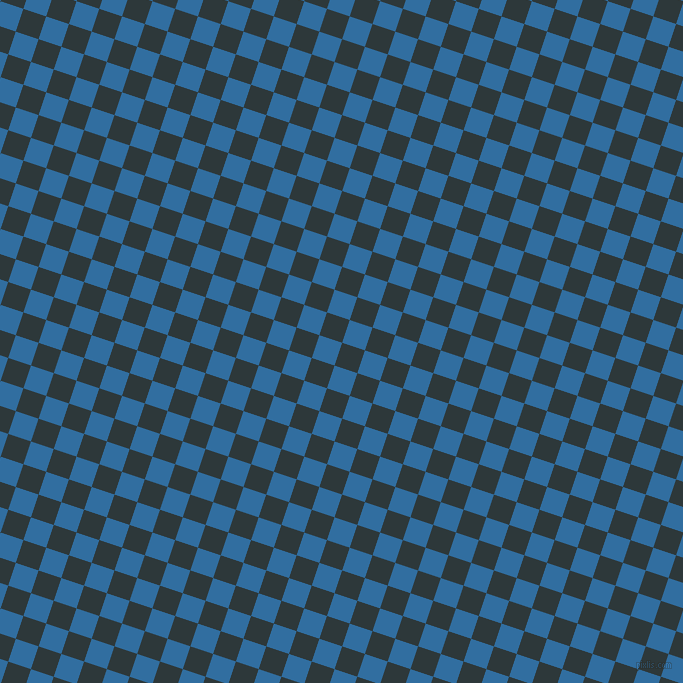 72/162 degree angle diagonal checkered chequered squares checker pattern checkers background, 24 pixel square size, , Outer Space and Lochmara checkers chequered checkered squares seamless tileable