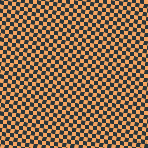 84/174 degree angle diagonal checkered chequered squares checker pattern checkers background, 14 pixel squares size, , Oxford Blue and Sandy Brown checkers chequered checkered squares seamless tileable