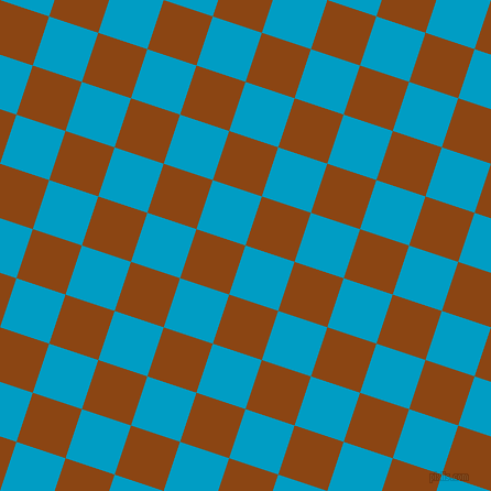 72/162 degree angle diagonal checkered chequered squares checker pattern checkers background, 47 pixel squares size, , Pacific Blue and Saddle Brown checkers chequered checkered squares seamless tileable
