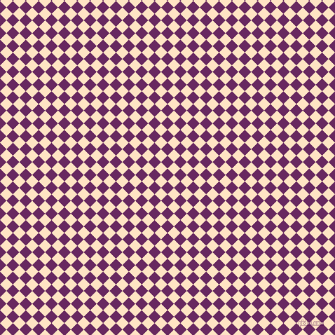 45/135 degree angle diagonal checkered chequered squares checker pattern checkers background, 13 pixel square size, , Palatinate Purple and Bisque checkers chequered checkered squares seamless tileable