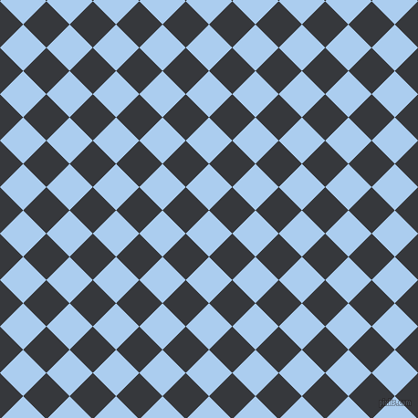 45/135 degree angle diagonal checkered chequered squares checker pattern checkers background, 36 pixel squares size, , Pale Cornflower Blue and Vulcan checkers chequered checkered squares seamless tileable