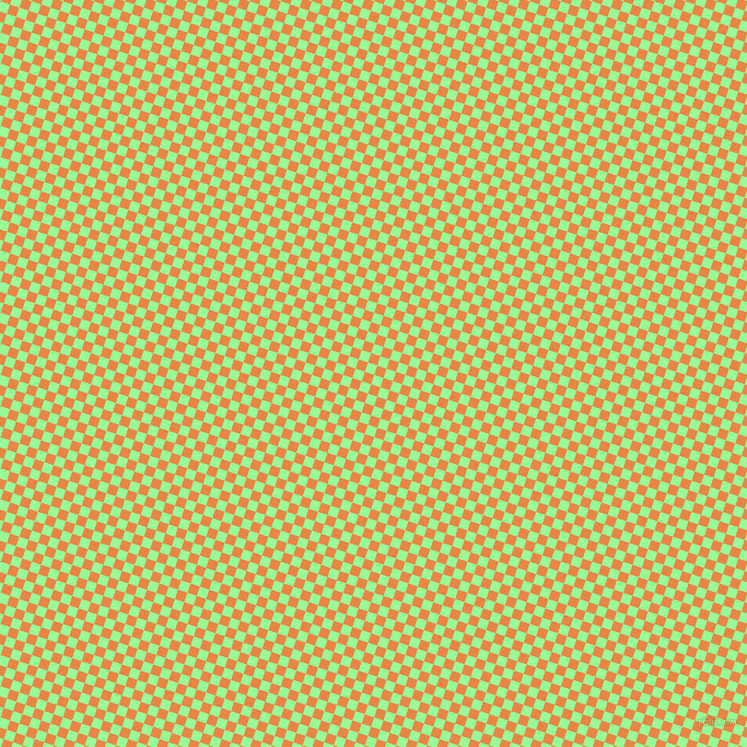 72/162 degree angle diagonal checkered chequered squares checker pattern checkers background, 9 pixel squares size, , Pale Green and Flamenco checkers chequered checkered squares seamless tileable