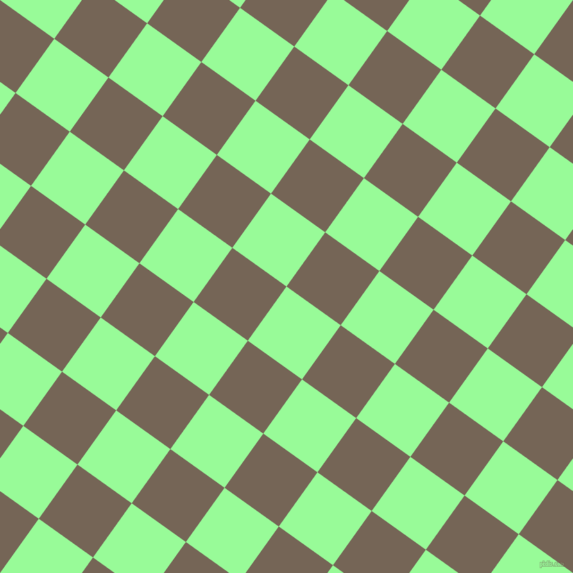 54/144 degree angle diagonal checkered chequered squares checker pattern checkers background, 96 pixel squares size, , Pale Green and Pine Cone checkers chequered checkered squares seamless tileable