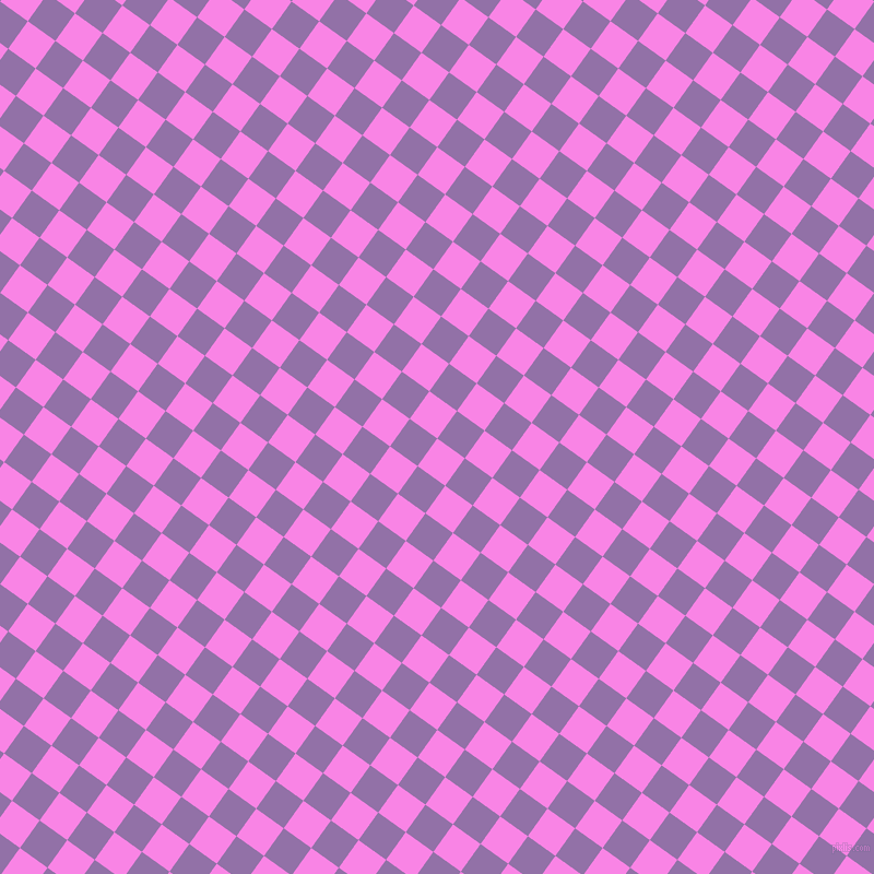 54/144 degree angle diagonal checkered chequered squares checker pattern checkers background, 31 pixel square size, , Pale Magenta and Ce Soir checkers chequered checkered squares seamless tileable