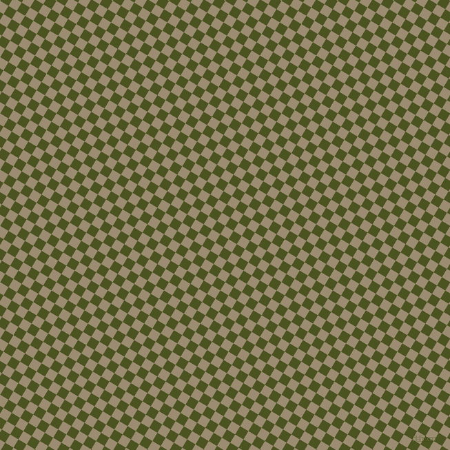 59/149 degree angle diagonal checkered chequered squares checker pattern checkers background, 14 pixel square size, , Pale Oyster and Army green checkers chequered checkered squares seamless tileable