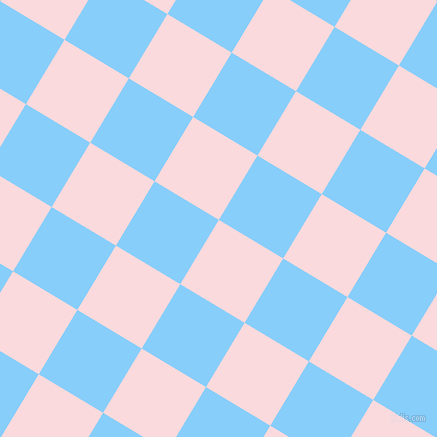 59/149 degree angle diagonal checkered chequered squares checker pattern checkers background, 75 pixel squares size, , Pale Pink and Light Sky Blue checkers chequered checkered squares seamless tileable