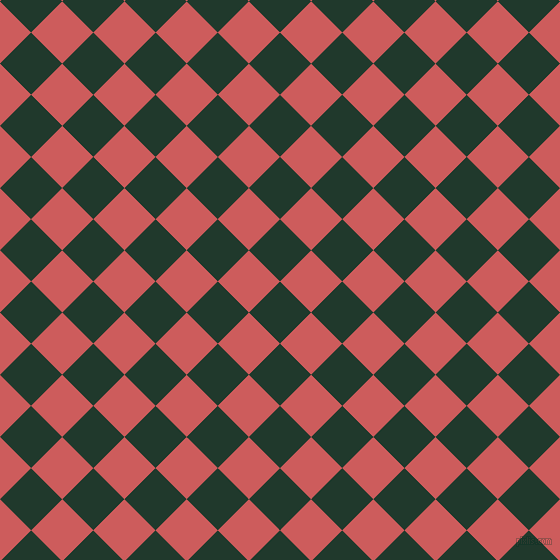 45/135 degree angle diagonal checkered chequered squares checker pattern checkers background, 44 pixel squares size, , Palm Green and Indian Red checkers chequered checkered squares seamless tileable