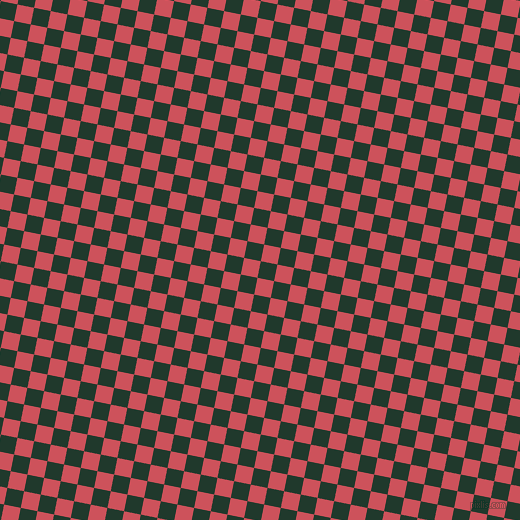 79/169 degree angle diagonal checkered chequered squares checker pattern checkers background, 17 pixel square size, , Palm Green and Mandy checkers chequered checkered squares seamless tileable