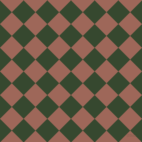 45/135 degree angle diagonal checkered chequered squares checker pattern checkers background, 58 pixel squares size, Palm Leaf and Au Chico checkers chequered checkered squares seamless tileable