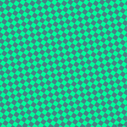 56/146 degree angle diagonal checkered chequered squares checker pattern checkers background, 18 pixel squares size, , Paradiso and Medium Spring Green checkers chequered checkered squares seamless tileable