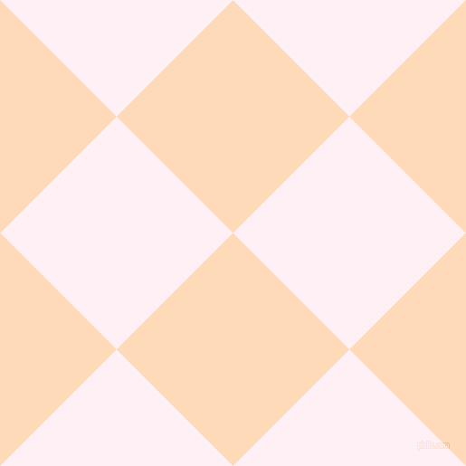 45/135 degree angle diagonal checkered chequered squares checker pattern checkers background, 182 pixel square size, , Peach Puff and Lavender Blush checkers chequered checkered squares seamless tileable