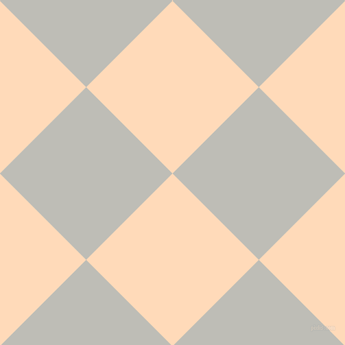 45/135 degree angle diagonal checkered chequered squares checker pattern checkers background, 178 pixel square size, , Peach Puff and Silver Sand checkers chequered checkered squares seamless tileable