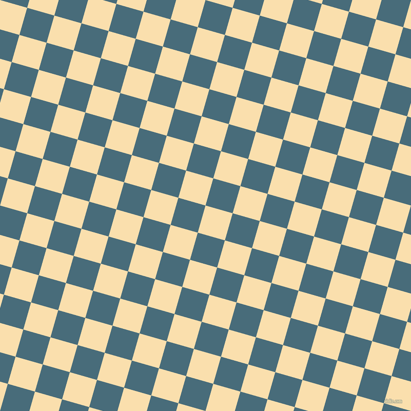 74/164 degree angle diagonal checkered chequered squares checker pattern checkers background, 55 pixel square size, , Peach-Yellow and Bismark checkers chequered checkered squares seamless tileable