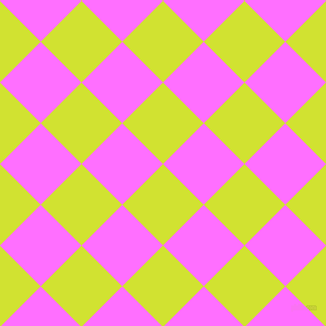 45/135 degree angle diagonal checkered chequered squares checker pattern checkers background, 81 pixel squares size, Pear and Ultra Pink checkers chequered checkered squares seamless tileable
