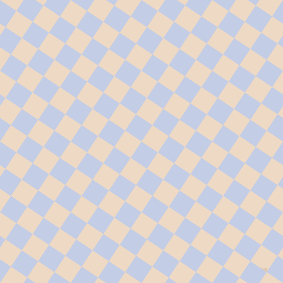 56/146 degree angle diagonal checkered chequered squares checker pattern checkers background, 40 pixel squares size, Periwinkle and Almond checkers chequered checkered squares seamless tileable