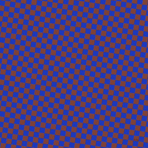 82/172 degree angle diagonal checkered chequered squares checker pattern checkers background, 17 pixel squares size, , Persian Blue and Red Robin checkers chequered checkered squares seamless tileable