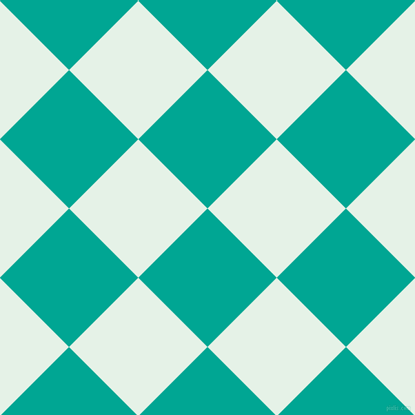 45/135 degree angle diagonal checkered chequered squares checker pattern checkers background, 142 pixel squares size, , Persian Green and Polar checkers chequered checkered squares seamless tileable
