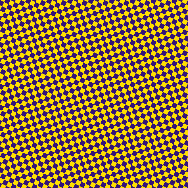 63/153 degree angle diagonal checkered chequered squares checker pattern checkers background, 16 pixel square size, , Persian Indigo and Golden Yellow checkers chequered checkered squares seamless tileable
