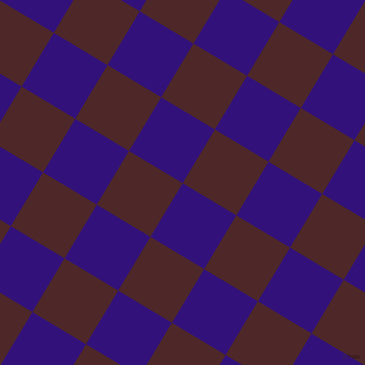 59/149 degree angle diagonal checkered chequered squares checker pattern checkers background, 129 pixel square size, , Persian Indigo and Volcano checkers chequered checkered squares seamless tileable