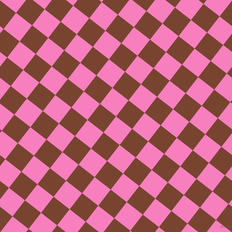 52/142 degree angle diagonal checkered chequered squares checker pattern checkers background, 68 pixel square size, , Persian Pink and Cumin checkers chequered checkered squares seamless tileable