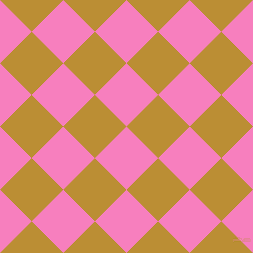 45/135 degree angle diagonal checkered chequered squares checker pattern checkers background, 91 pixel squares size, , Persian Pink and Hokey Pokey checkers chequered checkered squares seamless tileable