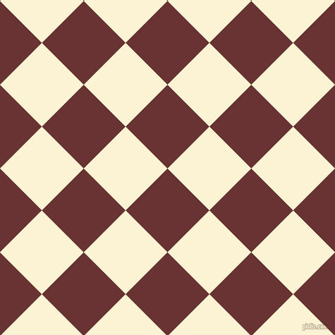 45/135 degree angle diagonal checkered chequered squares checker pattern checkers background, 84 pixel square size, , Persian Plum and China Ivory checkers chequered checkered squares seamless tileable