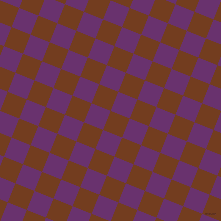 68/158 degree angle diagonal checkered chequered squares checker pattern checkers background, 69 pixel squares size, , Peru Tan and Seance checkers chequered checkered squares seamless tileable