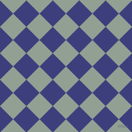 45/135 degree angle diagonal checkered chequered squares checker pattern checkers background, 61 pixel squares size, , Pewter and Jacksons Purple checkers chequered checkered squares seamless tileable