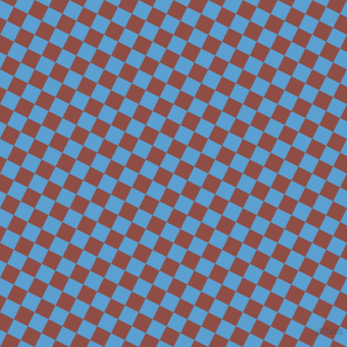 63/153 degree angle diagonal checkered chequered squares checker pattern checkers background, 22 pixel square size, , Picton Blue and Matrix checkers chequered checkered squares seamless tileable