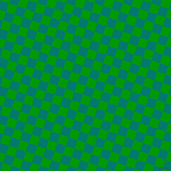 72/162 degree angle diagonal checkered chequered squares checker pattern checkers background, 30 pixel square size, , Pine Green and Islamic Green checkers chequered checkered squares seamless tileable