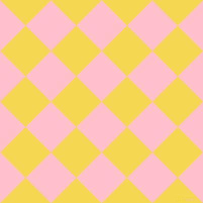 45/135 degree angle diagonal checkered chequered squares checker pattern checkers background, 71 pixel square size, , Pink and Energy Yellow checkers chequered checkered squares seamless tileable