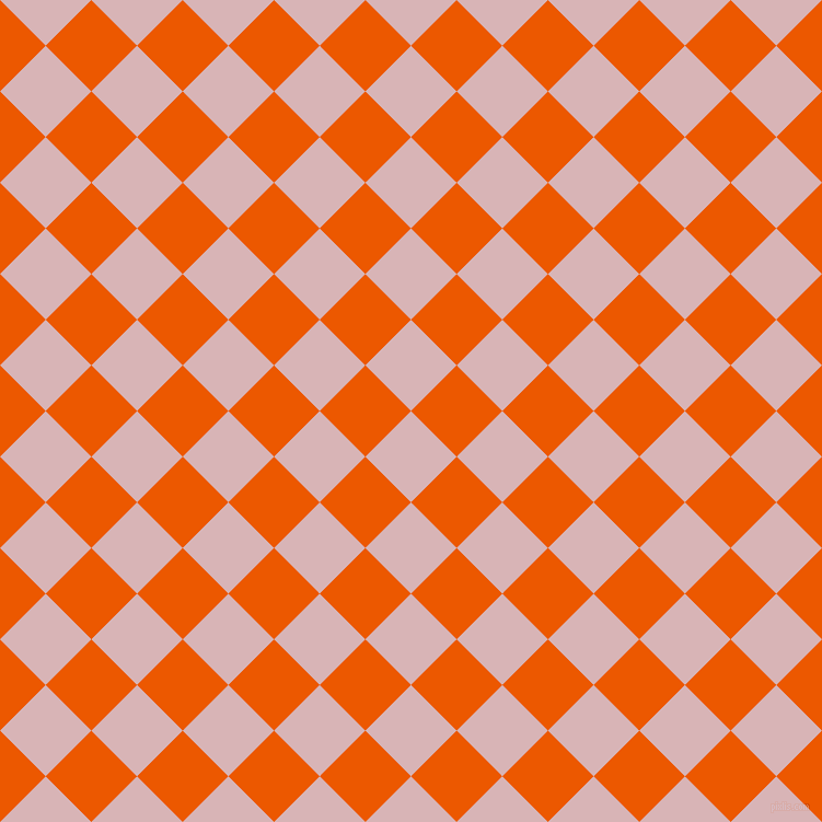 45/135 degree angle diagonal checkered chequered squares checker pattern checkers background, 59 pixel square size, , Pink Flare and Persimmon checkers chequered checkered squares seamless tileable