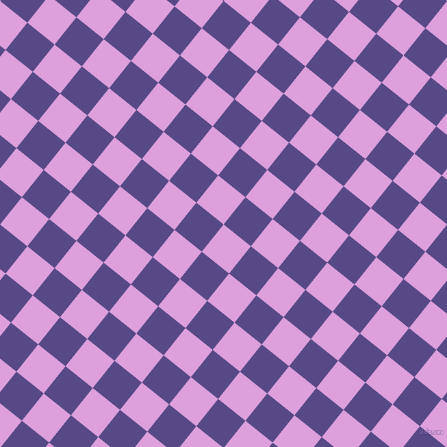 51/141 degree angle diagonal checkered chequered squares checker pattern checkers background, 51 pixel square size, Plum and Victoria checkers chequered checkered squares seamless tileable