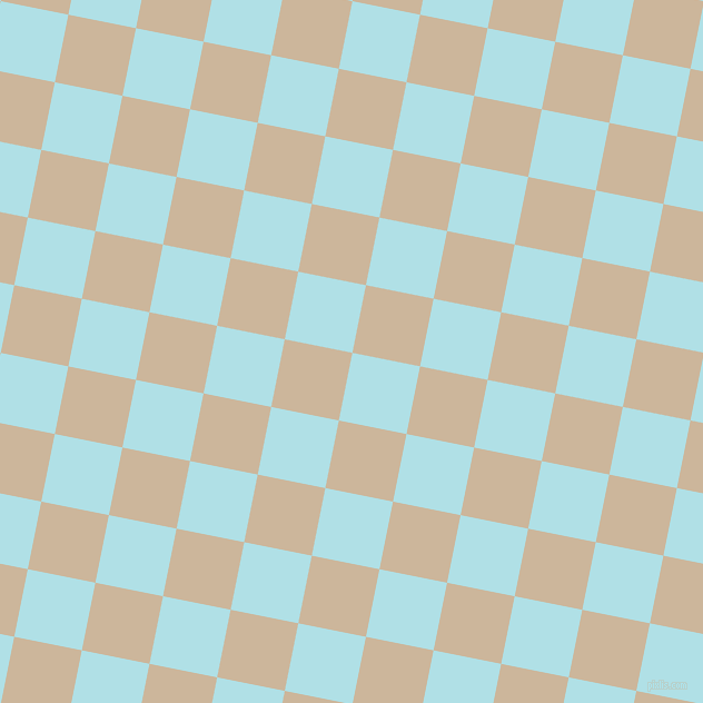 79/169 degree angle diagonal checkered chequered squares checker pattern checkers background, 62 pixel square size, Powder Blue and Vanilla checkers chequered checkered squares seamless tileable