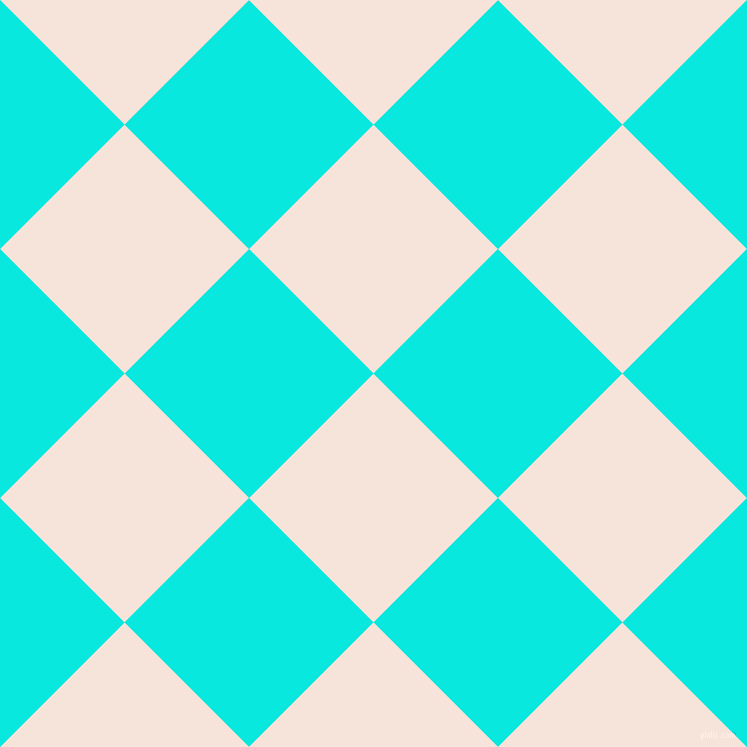 45/135 degree angle diagonal checkered chequered squares checker pattern checkers background, 176 pixel squares size, , Provincial Pink and Bright Turquoise checkers chequered checkered squares seamless tileable