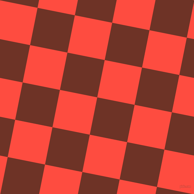 79/169 degree angle diagonal checkered chequered squares checker pattern checkers background, 122 pixel squares size, , Pueblo and Sunset Orange checkers chequered checkered squares seamless tileable