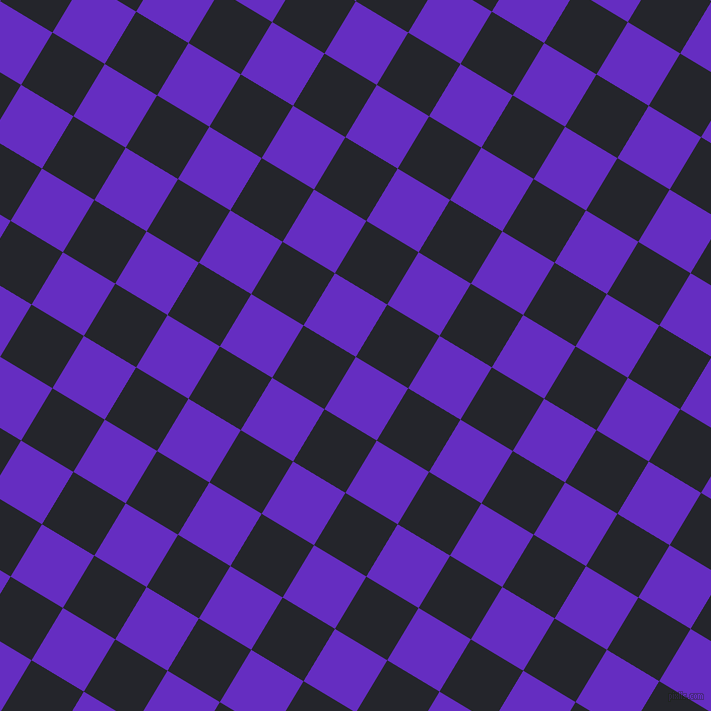 59/149 degree angle diagonal checkered chequered squares checker pattern checkers background, 61 pixel square size, , Purple Heart and Black Russian checkers chequered checkered squares seamless tileable