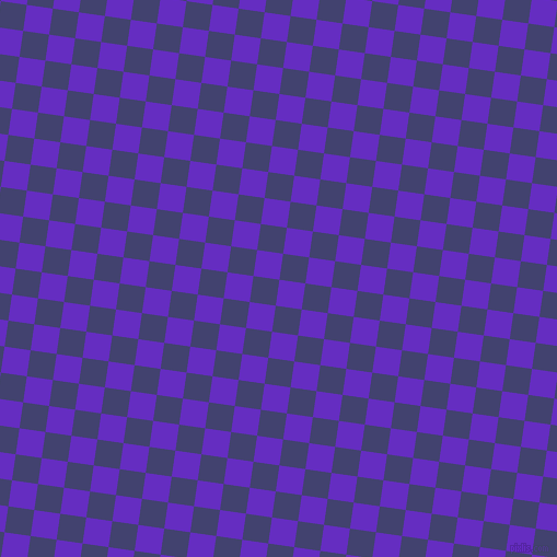 82/172 degree angle diagonal checkered chequered squares checker pattern checkers background, 24 pixel squares size, , Purple Heart and Corn Flower Blue checkers chequered checkered squares seamless tileable