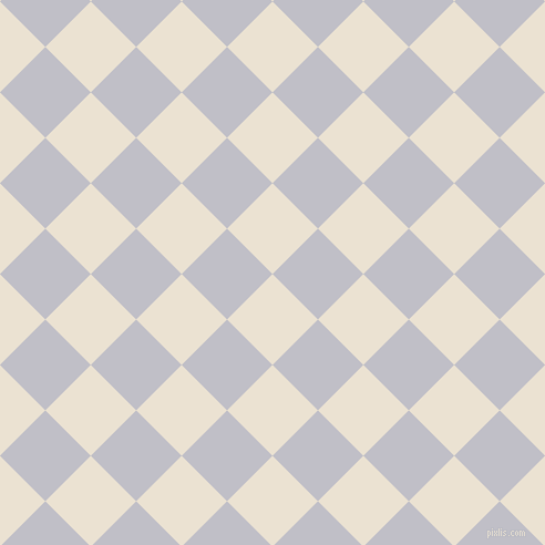 45/135 degree angle diagonal checkered chequered squares checker pattern checkers background, 58 pixel squares size, , Quarter Spanish White and Ghost checkers chequered checkered squares seamless tileable