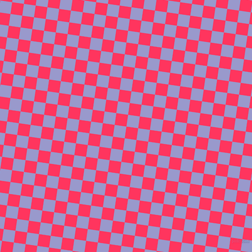 82/172 degree angle diagonal checkered chequered squares checker pattern checkers background, 24 pixel squares size, , Radical Red and Blue Bell checkers chequered checkered squares seamless tileable