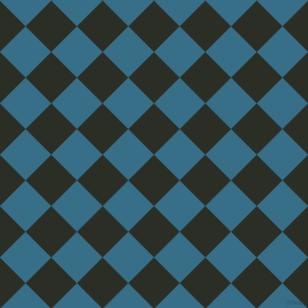 45/135 degree angle diagonal checkered chequered squares checker pattern checkers background, 73 pixel squares size, , Rangoon Green and Astral checkers chequered checkered squares seamless tileable