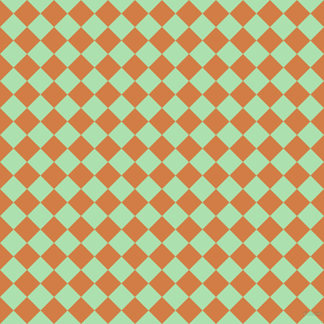 45/135 degree angle diagonal checkered chequered squares checker pattern checkers background, 38 pixel squares size, , Raw Sienna and Celadon checkers chequered checkered squares seamless tileable