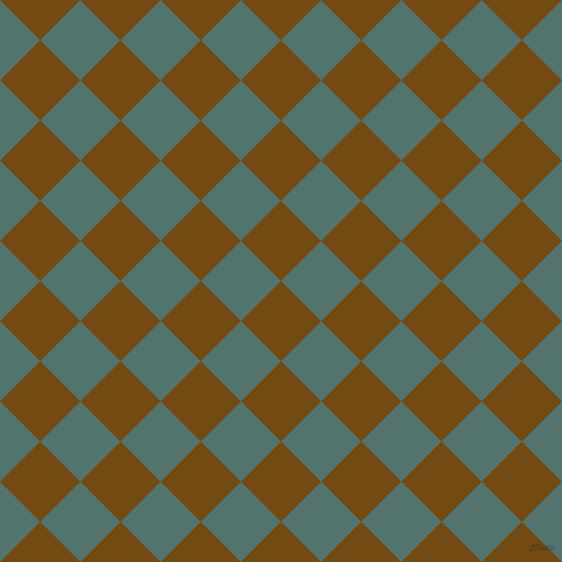 45/135 degree angle diagonal checkered chequered squares checker pattern checkers background, 82 pixel square size, , Raw Umber and William checkers chequered checkered squares seamless tileable